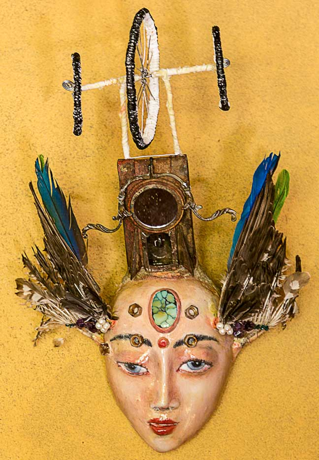 "Morfeo, 3D mixed media assemblage - 22"" x 16"" x 10"" by Mexican visionary artist, Armando Adrian-Lopez"