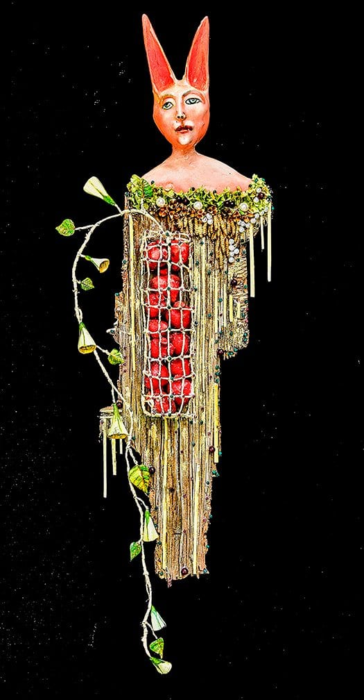 "Corazonario - Heart Holder 3D mixed media - 33"" x 11"" x 5"""