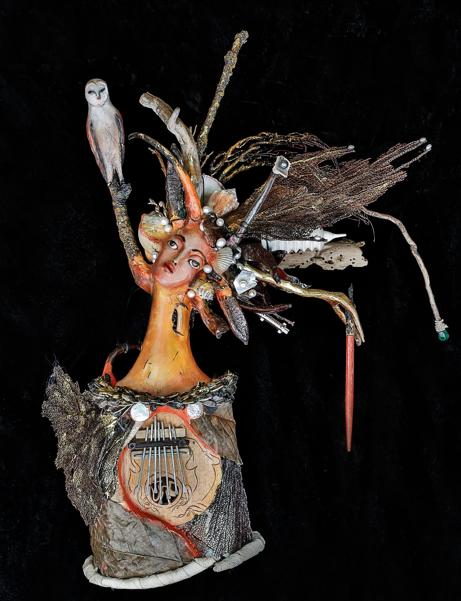 El Poeta - The Poet - 3D mixed media- 24