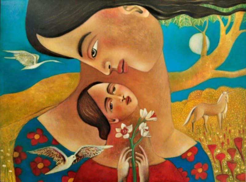 """Amor-Verdadero - True Love - oil on canvas - 30"""" x 40"""" completed Feb 2016"""