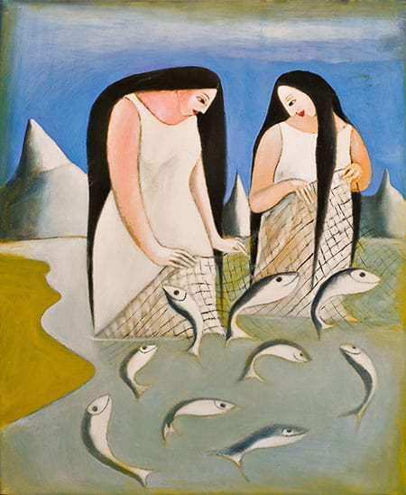 Las Pescadoras-The Fisher Women - oil on canvas - 24