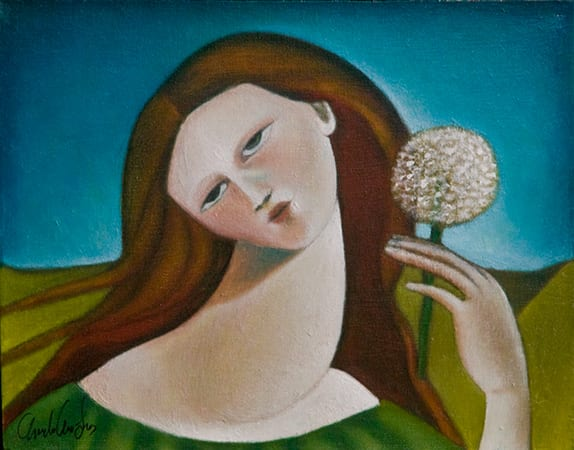 Recolectora - Gatherer - oil on canvas - 11