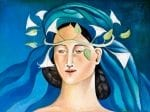 La Novia Azul - The Blue Bride - oil on canvas - 33